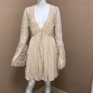 FREE PEOPLE With Love From India Lace Dress